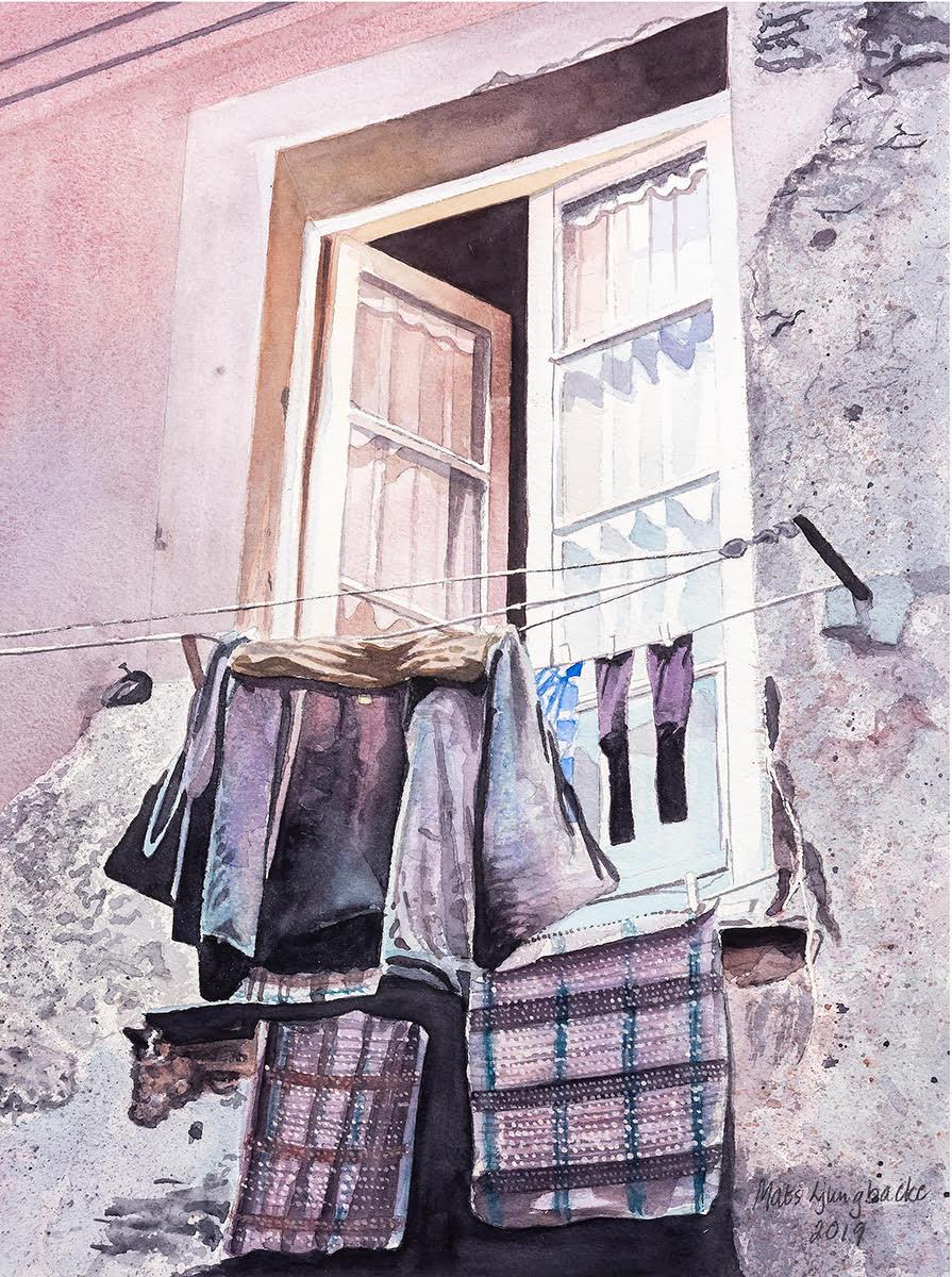 Kläder på tork, Corfu