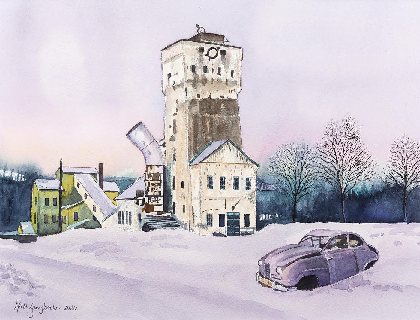 Ställbergs gruva med Saab